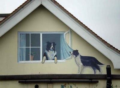 Realistic Dog Couple Illusion