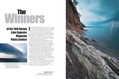 Lake Superior Lightning Strike takes Grand Prize in magazine photo contest