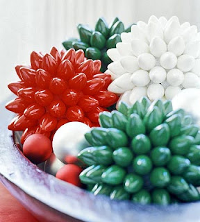 Christmas Bulb Centerpiece