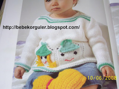 islemeli bebek kazak modeli