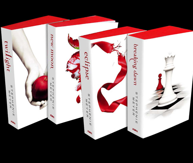 time The Twilight Saga books will be available in white coversTwilight Book Covers Combined