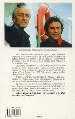 capitaine de la Calypso, par Albert Falco et Yves Paccalet, 4eme de couverture