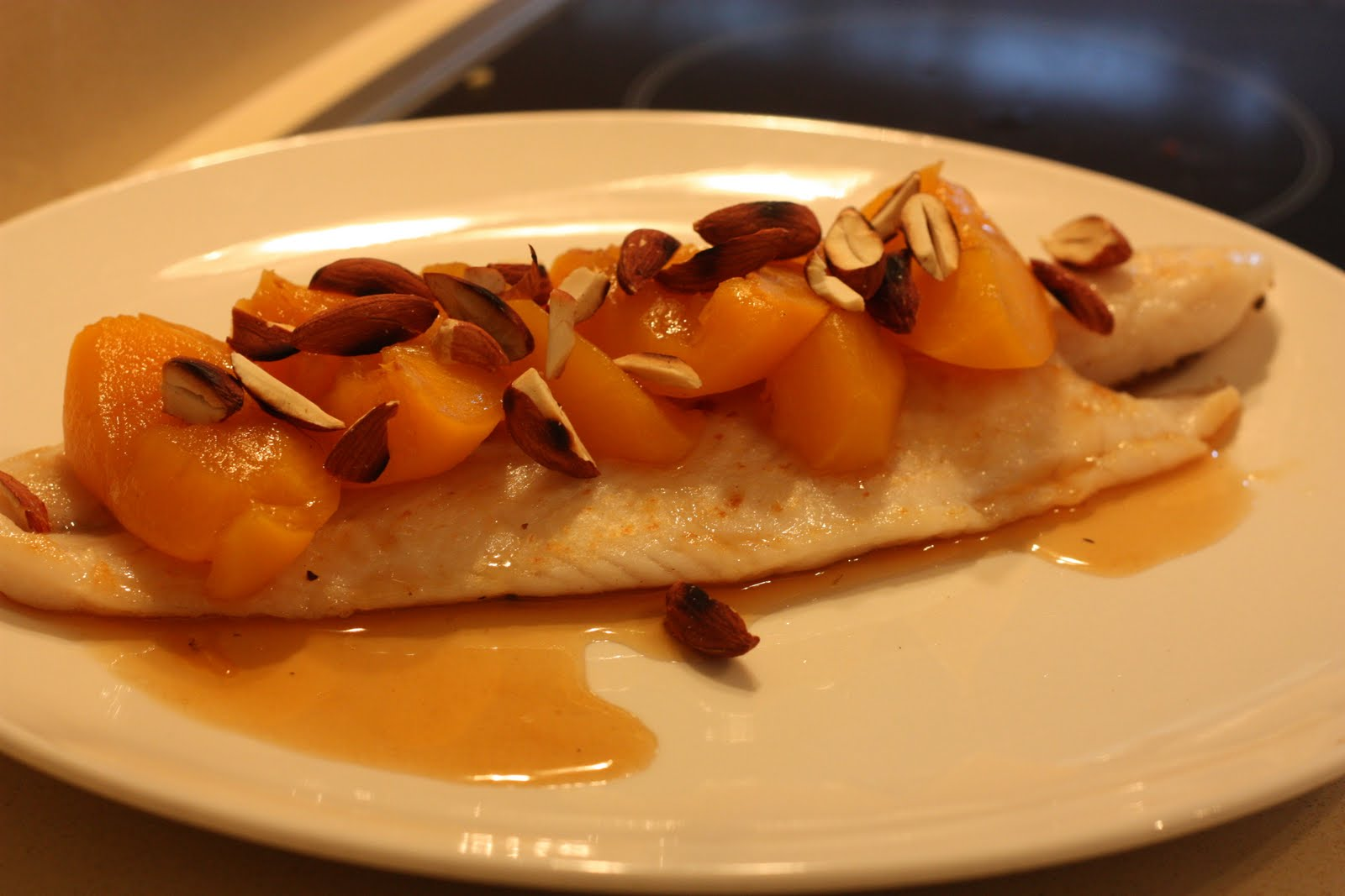 sUgArcrUnch: Pan Fried John Dory Fillet with Fresh Peach Sauce and ...