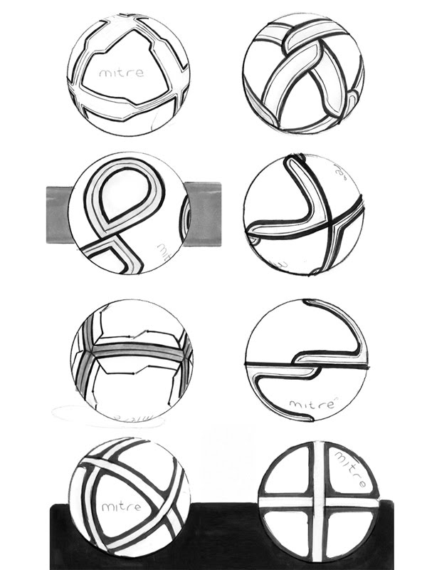 Mitre ball sketches