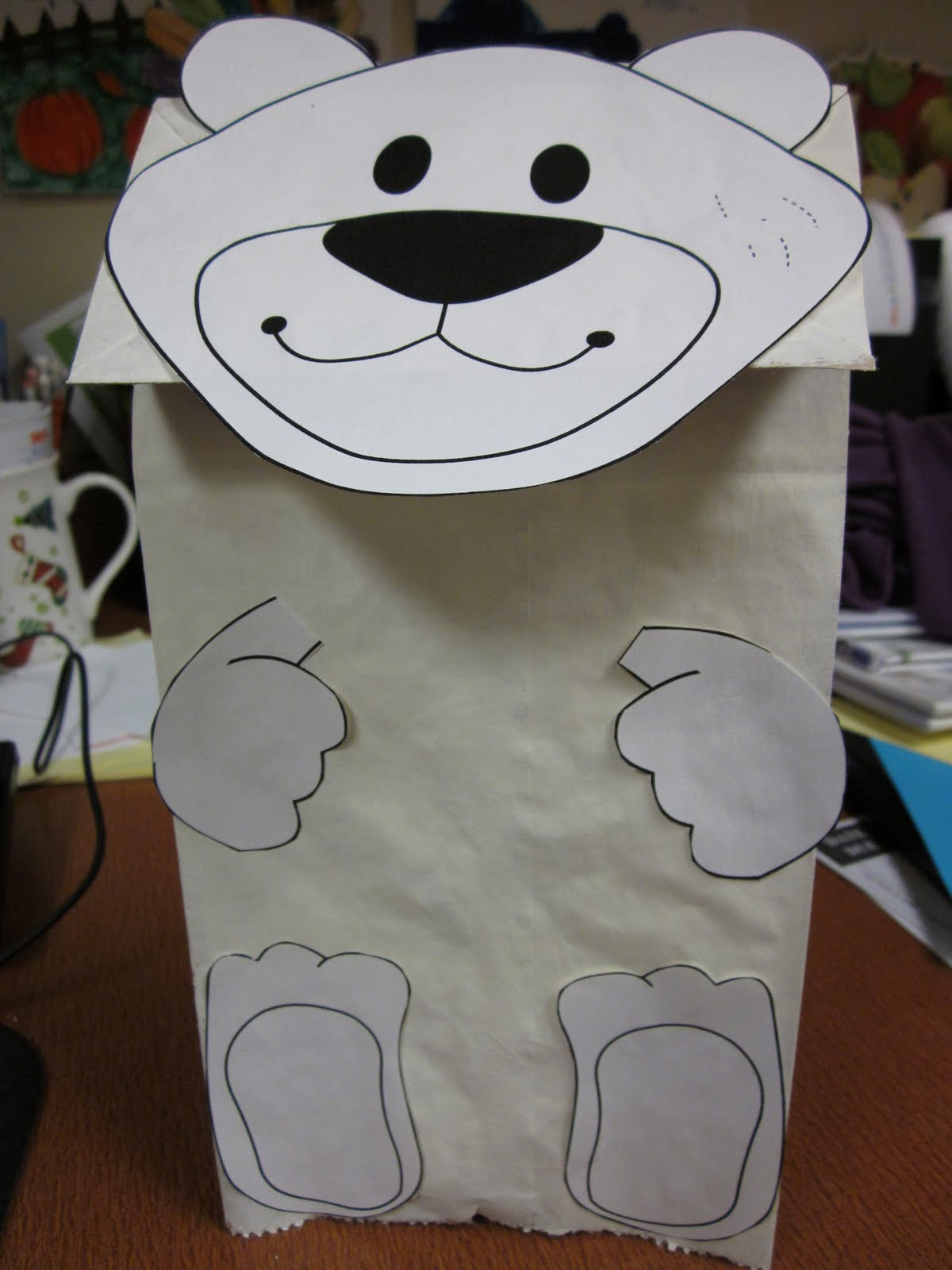 Polar Bear Craft Template This polar bear puppet craft