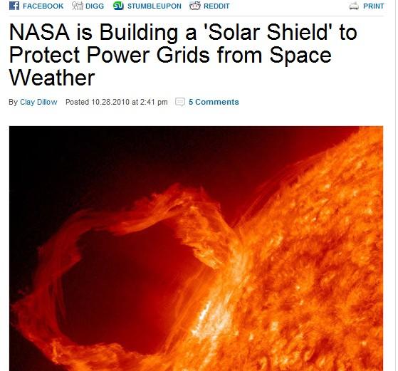 Tempestade Solar levada a sério