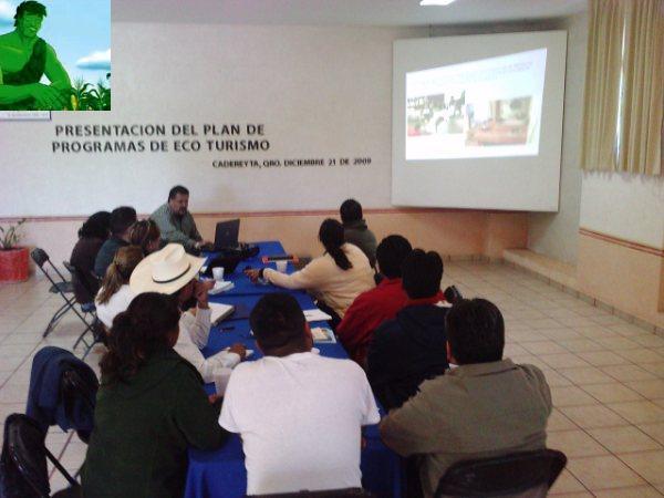 PRESENTACION DEL PLAN DE PROGAMAS DE ECOTURISMO EN CADEREYTA