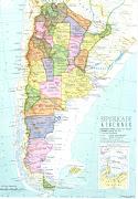 Nuevo mapa politico de la Argentina. Frente a tantas avenidas, . mapa pol arg
