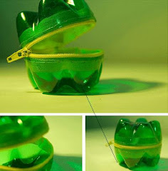 Botella plástica reciclada como monedero