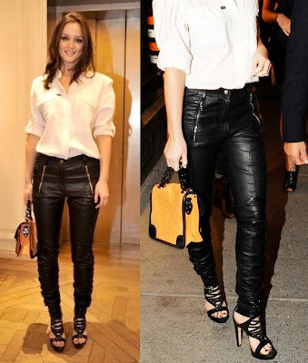 B MOREDOPE: Leighton Meester in leather pants by Phi