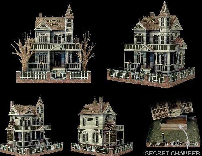 Ghost House Papercraft Papercraft Paradise Papercrafts