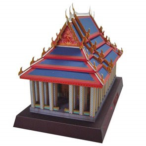 Thai temple of the emerald papercraft papercraft for How to make paper temple