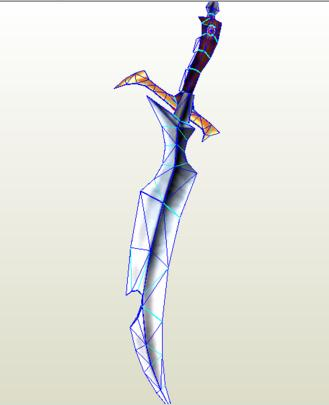 Yu Gi Oh Black Luster Sword Papercraft