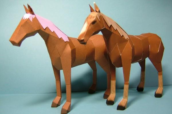 Как сделать лошадь из бумаги своими 86