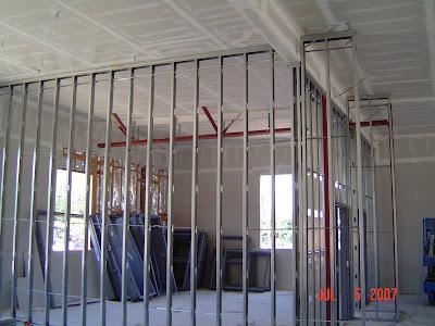 Metal Framing For Interior Wall U0026 ADA Ramp Rebar