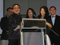 The children of Mr Lai giving a speech