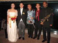 Newly weds Lisa and Anton with Jason Geh Live Band