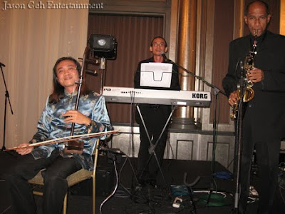 Jason Geh Live Band performing at Lisa's wedding