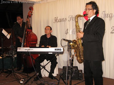 Jason Geh Wedding Jazz Quartet performing at Hans and Inge Marie's Wedding