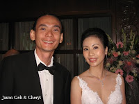 Jason Geh, the band manager with the bride Cheryl