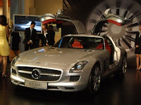 An image taken after the launch of the new Mercedes-Benz SLS AMG