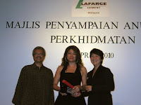 One of the award recipient
