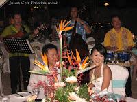 Wedding singers serenade the bride and groom