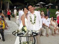 Wedding couple Bee Teng and Jason Yew
