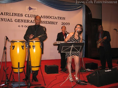 Singer and Live Band Entertainment performing live at WACA, KL, Malaysia on the opening night
