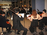 Back view of the string quartet during their performance