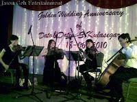 String Quartet performing at golden wedding anniversary