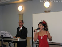 Singer and Live Band entertainment during dinner