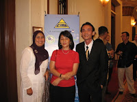 Jason Geh, the band manager posing with CIMA personnels