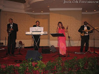 Wedding Live Jazz Band performing during the event