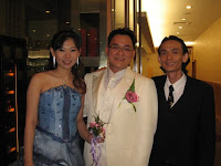Newly weds Christina and Tristan with band manager Jason Geh