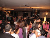 the crowd at the foyer