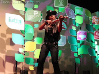Solo Electric Violin Performance by a female violinist