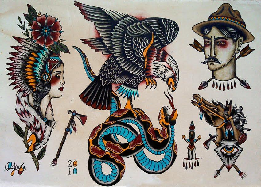 Luke jinks illustration tattoo flash for Best traditional tattoo artists