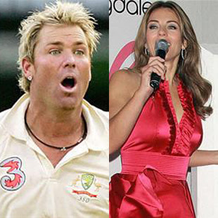 Liz Hurley Dumped Shane Warne images