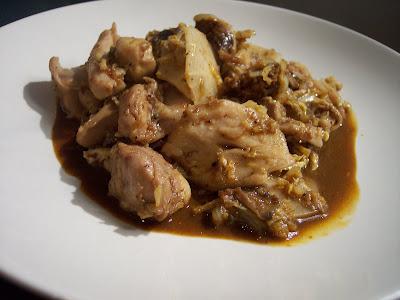 Chili-Ginger Chicken w/ Shiitake Mushrooms & Napa Cabbage