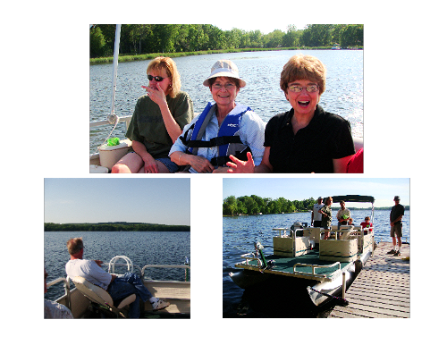 With Relatives in the Pontoon on the Lake