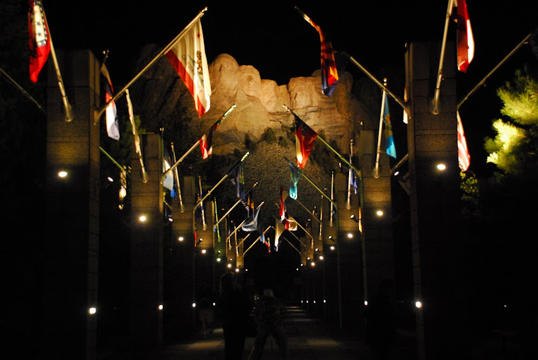 Avenue of the Flags at Night