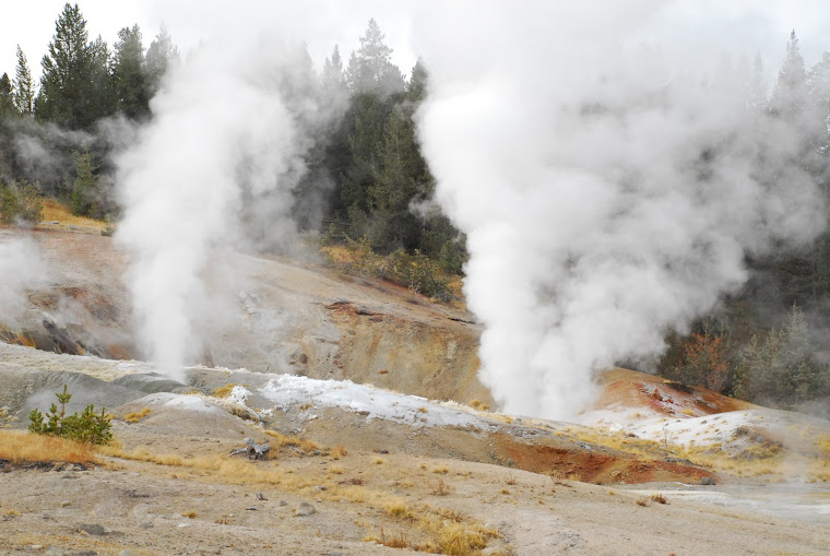 Close Up of Geysers