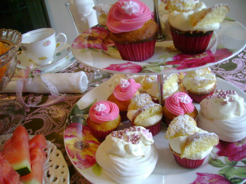 Fancy Nancy Party - butterfly cakes, cupcakes & meringues (all gluten free)