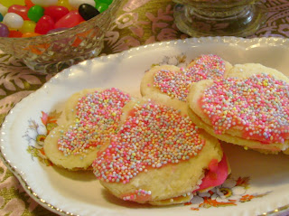 Fancy Nancy Party - heart sprinkle cookies