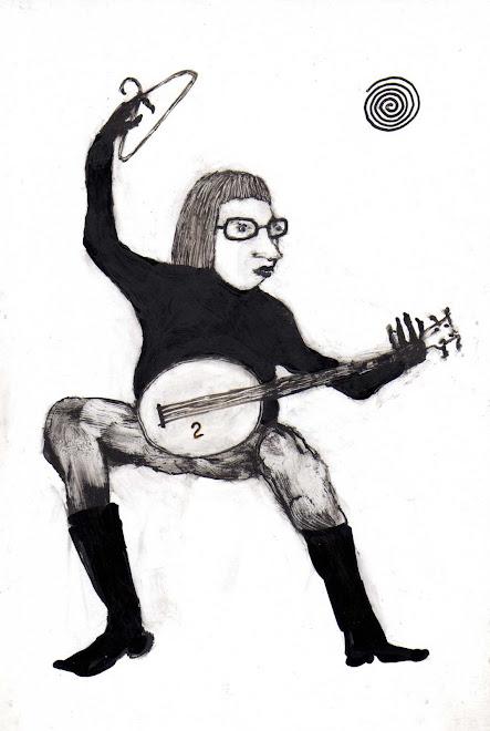 banjo   13x19  cm