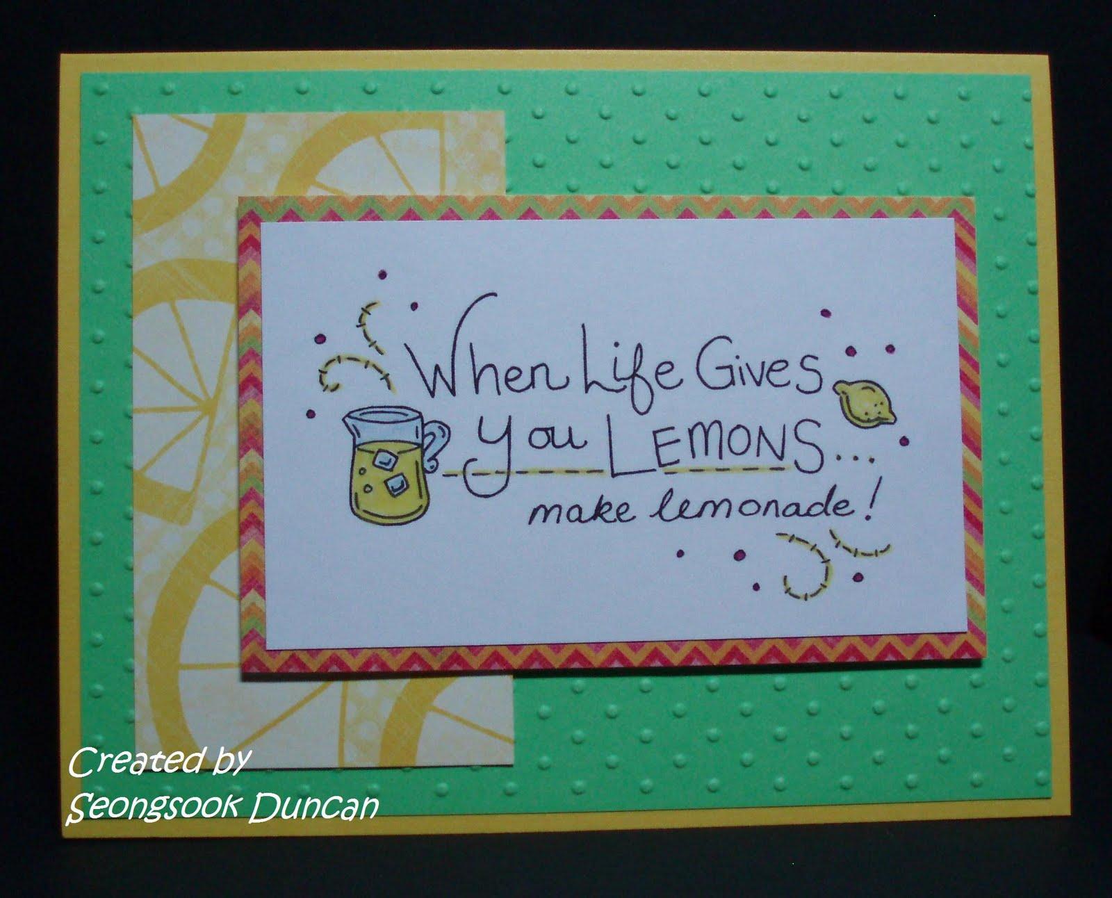 Create With Seongsook When Life Gives You Lemons Make Lemonade