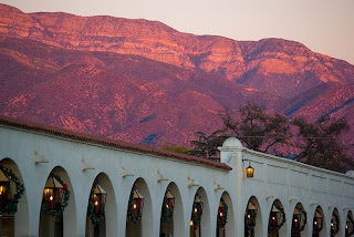 historic main street arcade in Ojai, CA