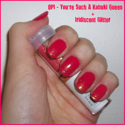 You're Such A Kabuki Queen Glitter French