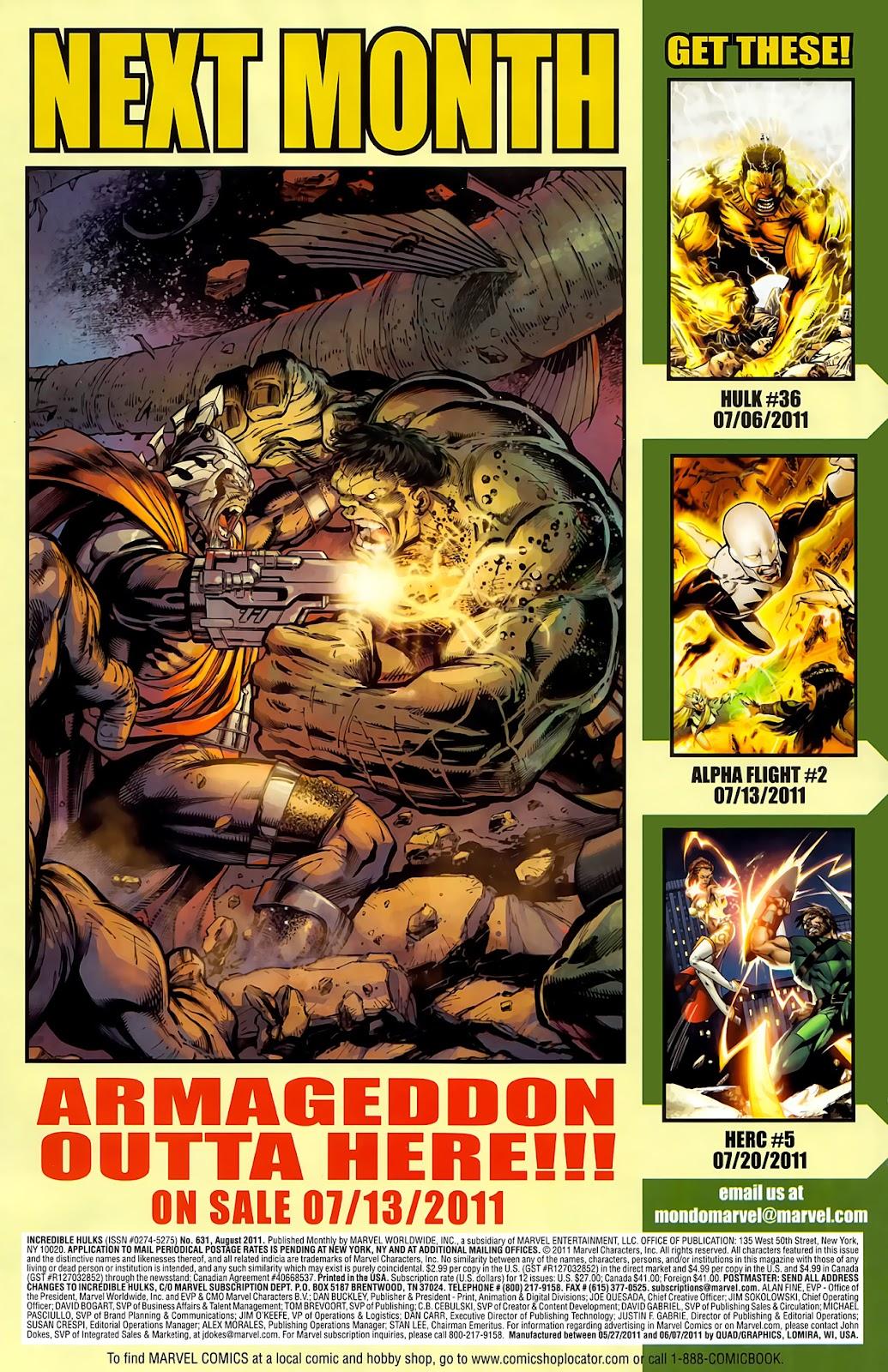 Incredible Hulks (2010) Issue #631 #21 - English 23